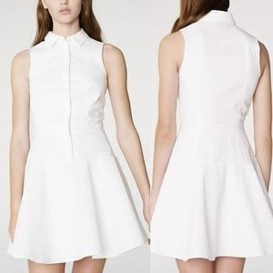 Armani Exchange White Seersucker Shirt Dress 8